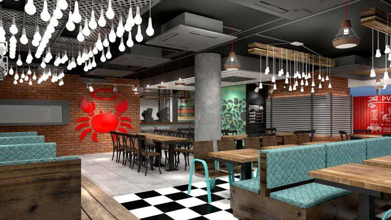 Louisiana seafood interior design